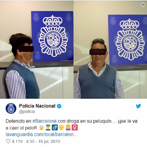 Detalle del twitter de la Policía Nacional. Fuente: lavanguardia.com